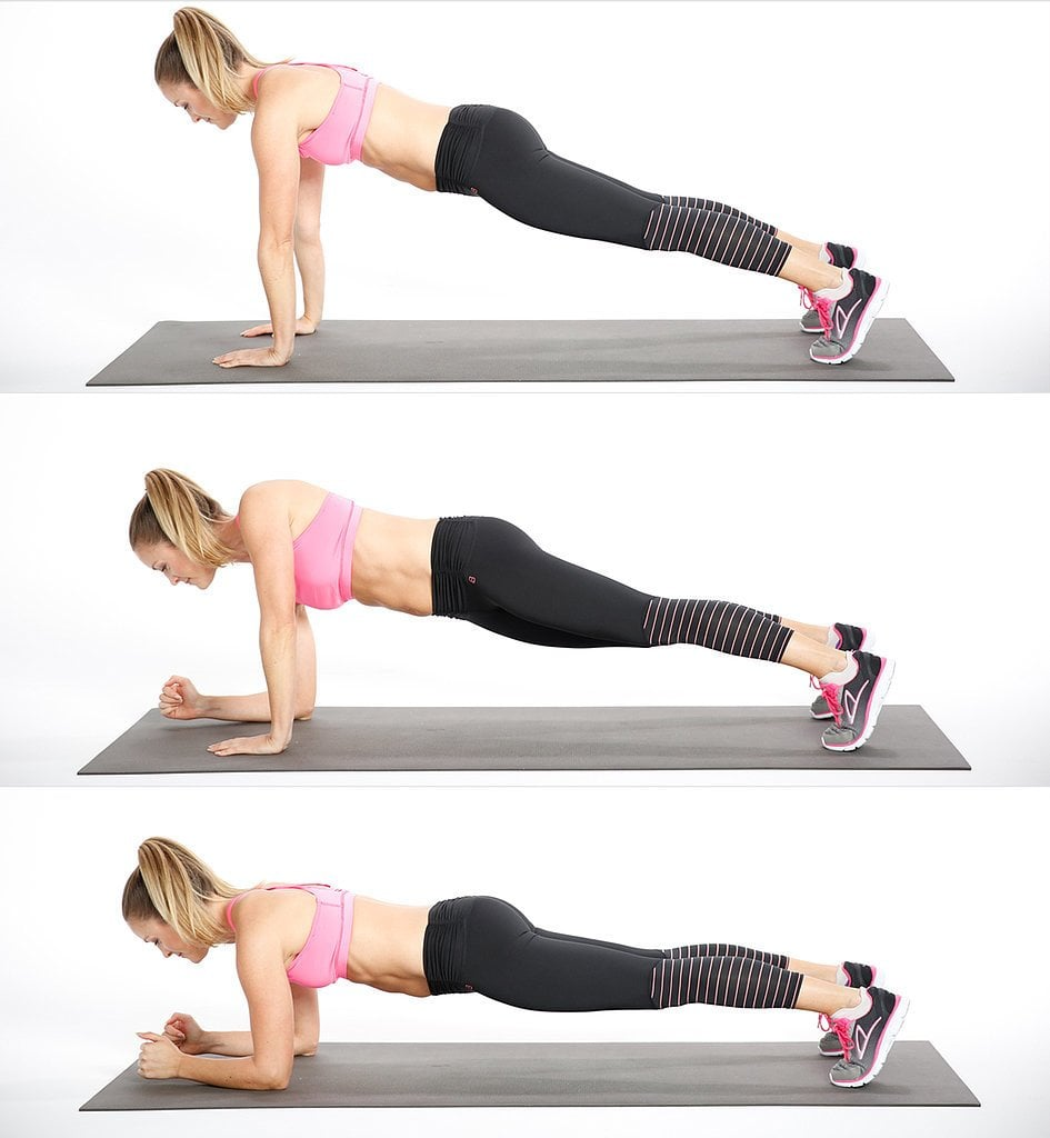 Low planks back workouts from home