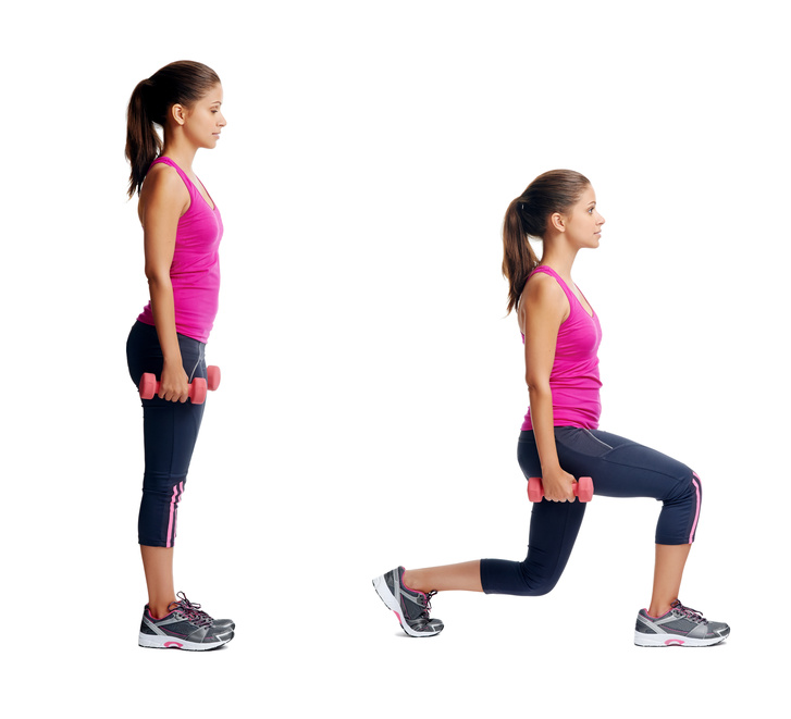 Left-right Lunges