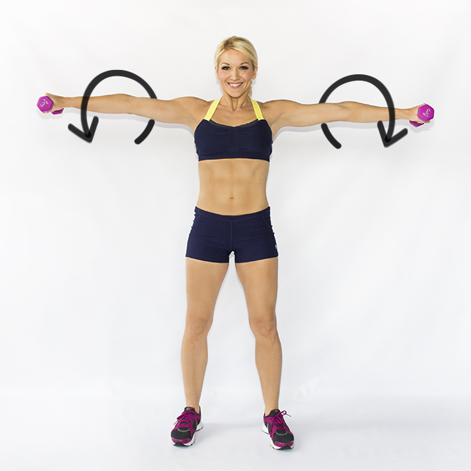 Straight arm circles - Shoulders workout at home